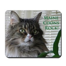 """Maine Coons Rock!"" Mousepad"