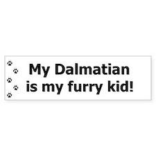 Dalmatian Furry Kid Bumper Bumper Sticker