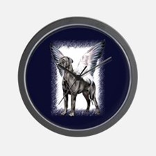 Great Dane Angel Black UC Wall Clock