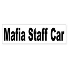 Mafia Staff Car Bumper Bumper Stickers