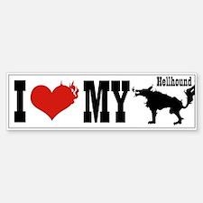 I Love My Hellhound Bumper Bumper Bumper Sticker