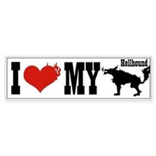 I Love My Hellhound Bumper Bumper Sticker