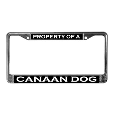Property of Canaan Dog License Plate Frame