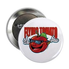 "Flying Tomato! 2.25"" Button"