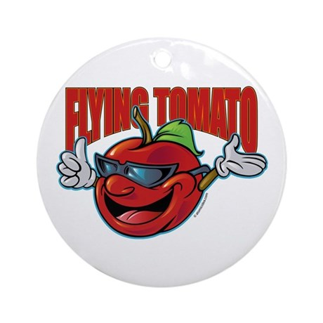Flying Tomato! Ornament (Round)