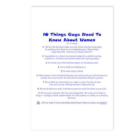 10 Things...Women Postcards (Package of 8)
