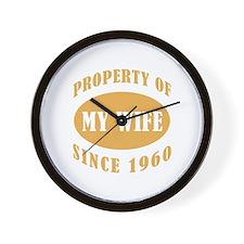 Funny 50th Anniversary Wall Clock