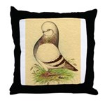 Tumbler CL Barred Pigeon Throw Pillow