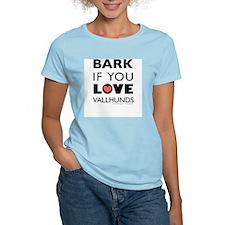 Bark if You Love Vallhunds Women's Pink T-Shirt