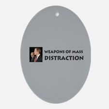 Mass Distraction Oval Ornament
