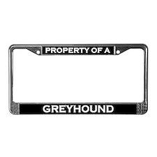 Property of Greyhound License Plate Frame