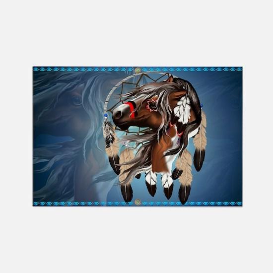 Paint Horse Dreamcatcher Rectangle Magnet