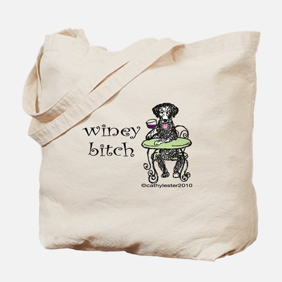 Winey Bitch Curly Tote Bag