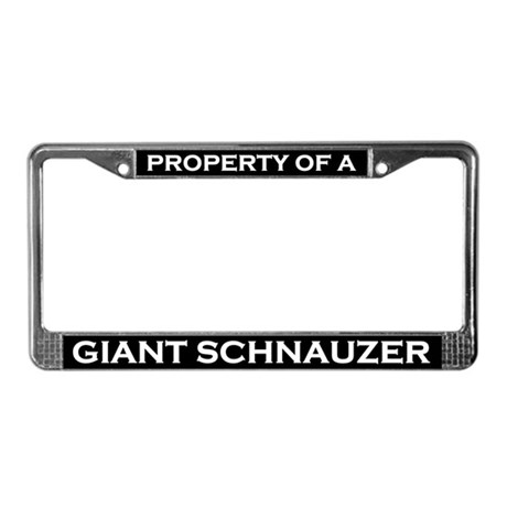 Property of Giant Schnauzer License Plate Frame
