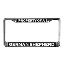 Property of German Shepherd License Plate Frame