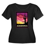 Arizona Women's Plus Size Scoop Neck Dark T-Shirt