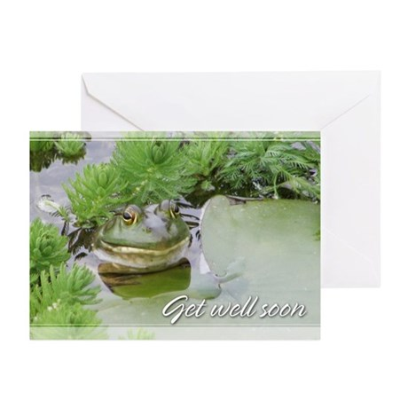 Green Frog Get Well Greeting Cards (Pk of 10)