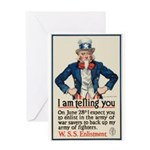 I Am Telling You Greeting Card