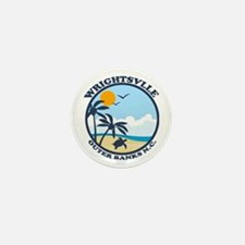 Wrightsville Beach NC - Beach Design Mini Button