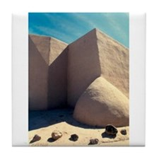 Rancho Taos Church Tile Coaster