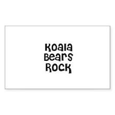Koala Bears Rock Rectangle Decal