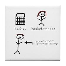A Tisket A Tasket Tile Coaster