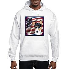 Basenji USA Flag Hoodie