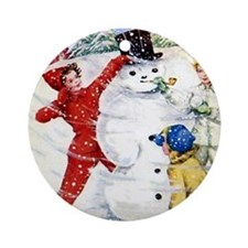 Brownie Scout Ornament (Round)