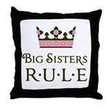 Big sisters rule Throw Pillows