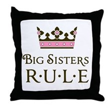 Big Sisters Rule Throw Pillow