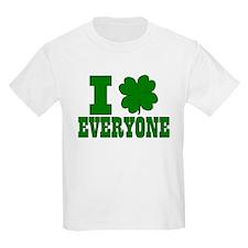 I Shamrock EVERYONE Kids T-Shirt