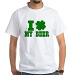 I Shamrock My Beer White T-Shirt