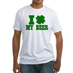 I Shamrock My Beer Fitted T-Shirt