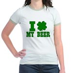 I Shamrock My Beer Jr. Ringer T-Shirt