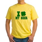 I Shamrock My Beer Yellow T-Shirt
