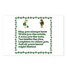 Irish Blessings, Saying, Toasts and Prayer Postcar