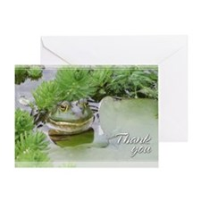 Green Frog Thank You Card 5x7