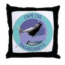 Cape Cod Whale Throw Pillow