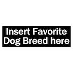 Favorite Dog Breed Bumper Sticker