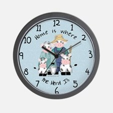 Herd at Home Wall Clock