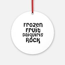 Frozen Fruit Daiquiris Rock Ornament (Round)