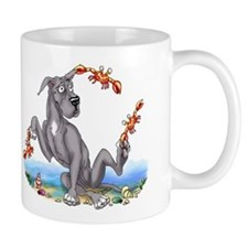 Great Dane Black Crabby Small Small Mug