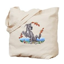 Great Dane Black Crabby Tote Bag