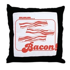 MMM Bacon Throw Pillow