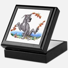 Great Dane Black Crabby Keepsake Box