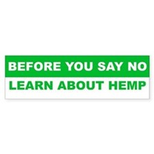 Learn about hemp Bumper Sticker