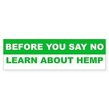 Learn about hemp Bumper Stickers