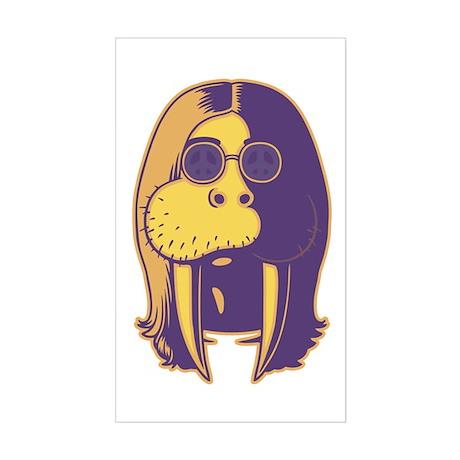Walrus Man Sticker (Rectangle)