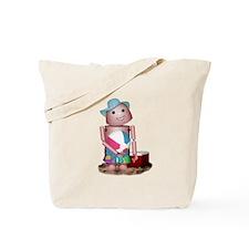 Funny Robot beach Tote Bag