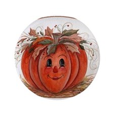 "Whimsical Pumpkin 3.5"" Button (100 pack)"